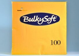 BulkySoft Table Top Servietten - 100% Zellstoff - 3-lagig - 1/4-Falz - limone